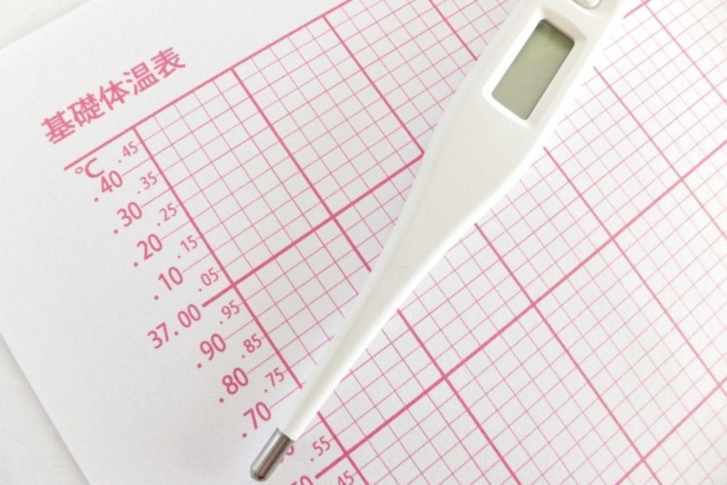 体温計と体温チェック表